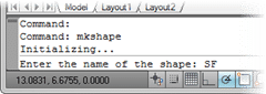 Naming the AutoCAD Shape