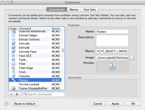 Recreating the FLATTEN Command in AutoCAD for Mac CustomMacro