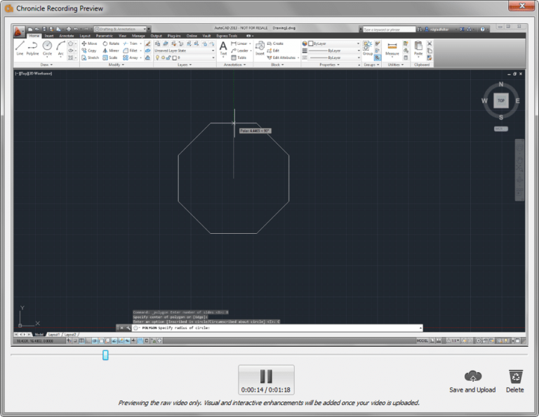 Capture AutoCAD Workflows with Project Chronicle Recording Preview