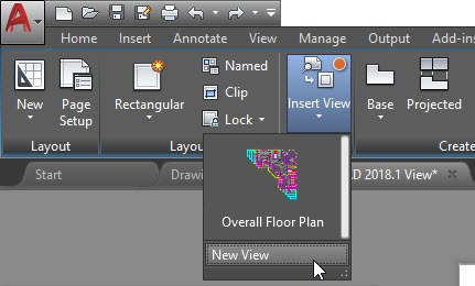 Sheet Setup Made Easy with AutoCAD 2018.1 Views and Viewports AutoCAD 2018.1 New View Layout