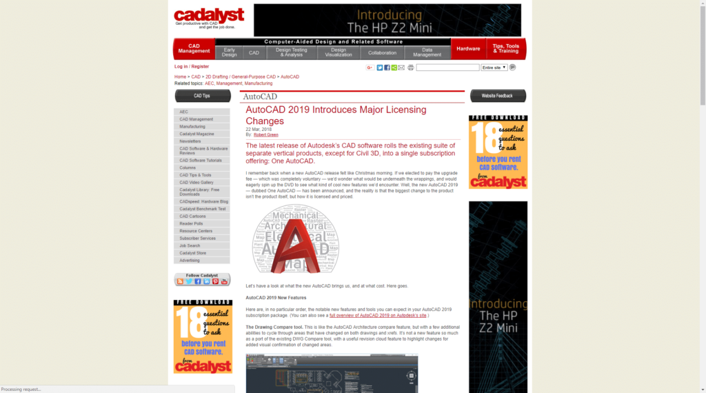 What People are Saying About AutoCAD 2019 Cadalyst Robert Green