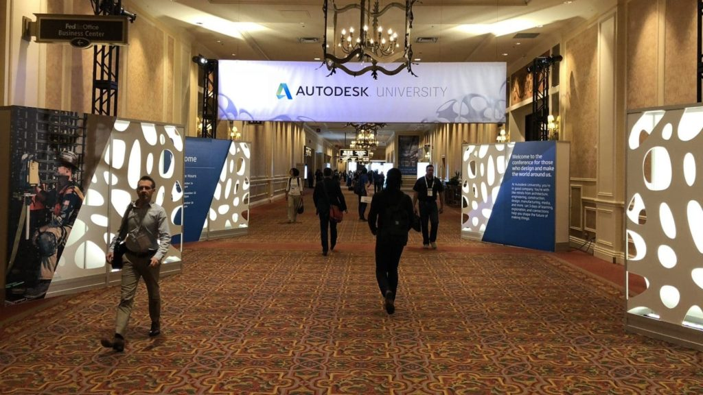 Autodesk University 2018 Community Voting Now Open Autodesk University 2017 Entrance e1528948339435