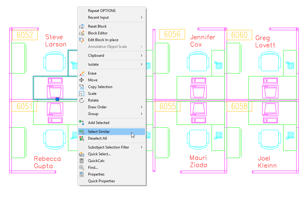 Leveraging the AutoCAD Select Similar Command autocad select similar command